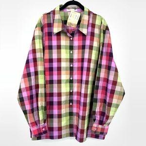 Foxcroft Plaid Button Down Shirt